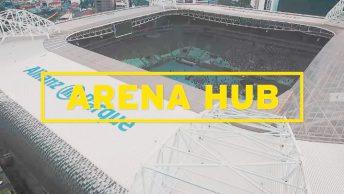Arena Hub evento de lançamento
