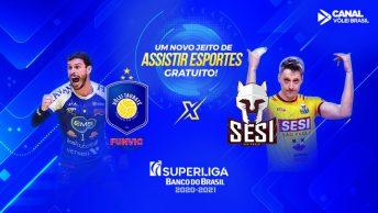 Taubaté x Sesi será um marco para as transmissões esportivas na TV NSports.